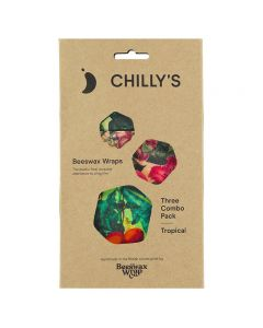 CHILLY'S Beeswax Wrap 3-Pack Tropical